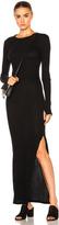 Enza Costa Long Sleeve Maxi Dress