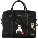 Dolce & Gabbana 'Mediterraneo' Designer's patch holdall - men - Leather/Nylon - One Size