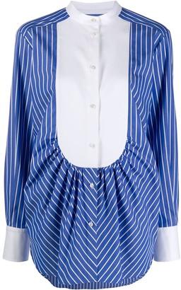 MSGM Striped Bib Shirt