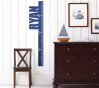 Pottery Barn Kids Cut Out Name Growth Chart, Aqua