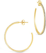 Thumbnail for your product : Sterling Forever 14K Over Silver Cz Inside-Out Hoops