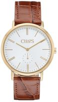 Chaps Men's Dunham Leather Watch