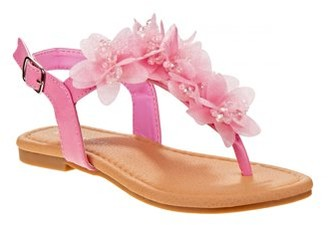 Laura Ashley Flower Cutie T-Strap Sandal (Little Girls & Big Girls)
