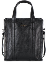 Balenciaga Black Leather Bazar Shopper XS