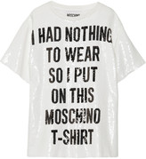 Moschino Sequined crepe de chine top