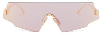 Fendi Aviator Metal Sunglasses - Rose Gold