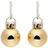 Balenciaga Gold & Silver December Ball Earrings