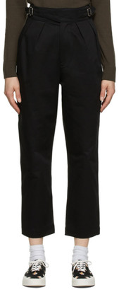 MAISON KITSUNÉ Black Denim Worker Pants