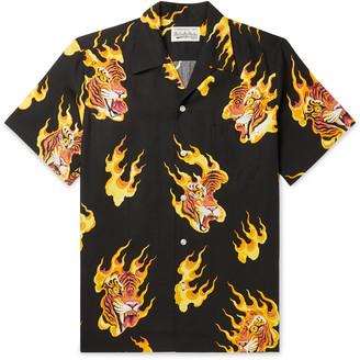 Wacko Maria + Tim Lehi Camp-Collar Printed Lyocell Shirt