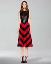 Leather-Bodice Dress