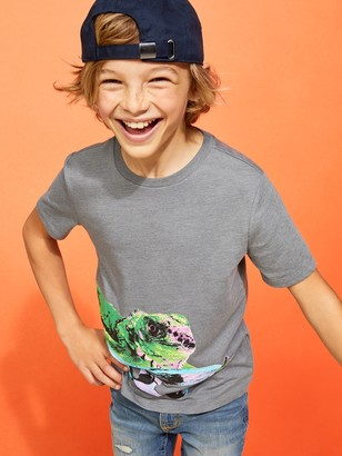 Old Navy Textured Iguana Skater Graphic Tee for Boys