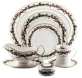 Royal Worcester 113-Piece Holly Ribbons Partial Dinner Service