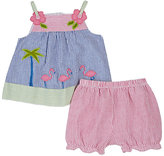 Florence Eiseman Appliquéd Cotton-Blend Dress & Bloomer Set