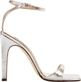 Sergio Rossi sr1 Silver Laminated Leather Sandals