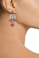 Elizabeth Cole Hematite-plated multi-stone earrings