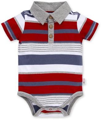 Burt's Bees Multi Stripe Organic Baby Polo Bodysuit