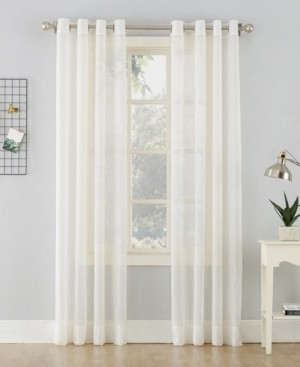 "No. 918 51"" x 63"" Crushed Sheer Voile Grommet Top Curtain Panel"