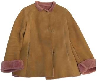 Ermanno Scervino Beige Shearling Jacket for Women
