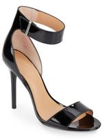 Halston Patent Leather High-Heel Sandals
