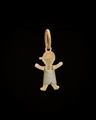 Italian Gold 14K Tri-Tone Boy Pendant