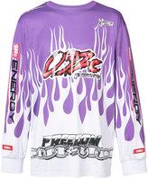032c motocross flame sweatshirt - men - Polyester/Spandex/Elastane - S