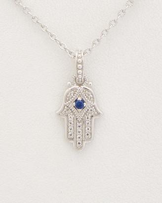 Judith Ripka La Petite Silver 0.12 Ct. Tw. Gemstone Pendant Necklace
