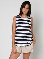 Nude Lucy Matta Washed Muscle Tee In Navy White Stripe size XS
