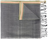 Paul Smith contrast panel scarf - men - Cotton/Linen/Flax - One Size