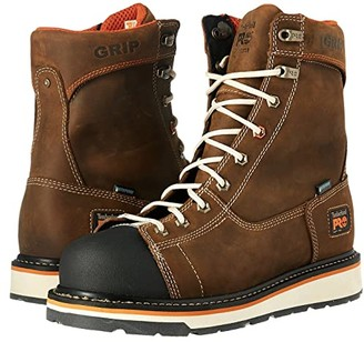 Timberland Gridworks Soft Toe Waterproof Boot (Brown Full Grain Leather) Men's Work Lace-up Boots