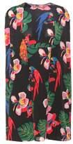 Valentino Printed sleeveless silk dress