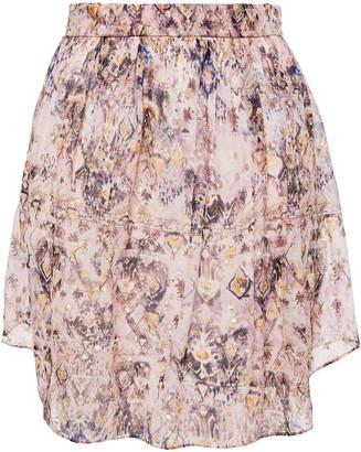 IRO Yucca Metallic Fil Coupe Chiffon Mini Skirt