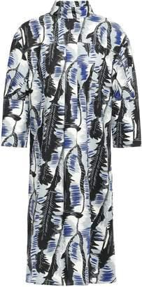 Marni Pleated Printed Cotton-poplin Dress