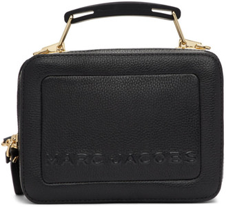 Marc Jacobs Black The Textured Mini Box Bag