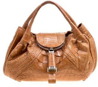 Fendi Brown Crocodile Spy Bag