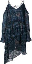 IRO asymmetric cold shoulder dress