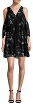 Rebecca Minkoff Robbie Floral Print Flared Dress