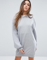 Missguided Balloon Sleeve Sweat Sweater Dress