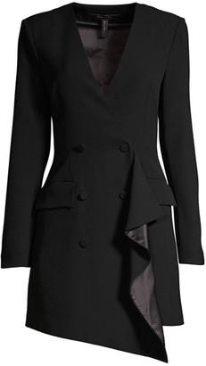 BCBGMAXAZRIA Ruffled Detail Blazer Dress
