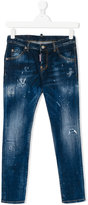 DSQUARED2 distressed slim fit jeans - kids - Cotton/Spandex/Elastane - 16 yrs