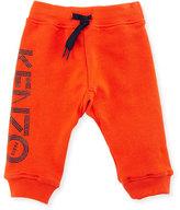 Kenzo Boris Jersey Logo Track Pants, Red, Size 6-18 Months