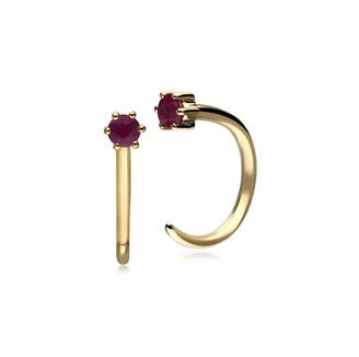 Gemondo Ruby Pull Through Hoop Earrings