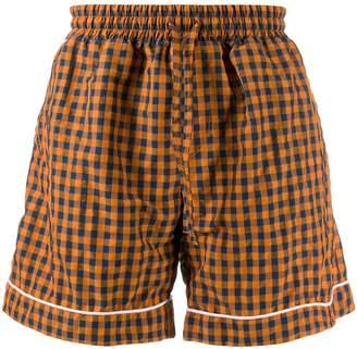 David Catalan checked deck shorts
