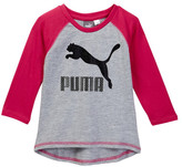 Puma 3/4 Length Sleeve Raglan Tee (Little Girls)