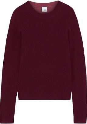 Iris & Ink Hilda Two-tone Ribbed Cashmere Sweater
