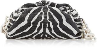 Bottega Veneta Gathered Printed Textured-Leather Shoulder Bag