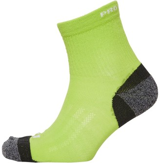 Pro Touch Unisex Cushioned Low Cut Running Socks Lime/Black