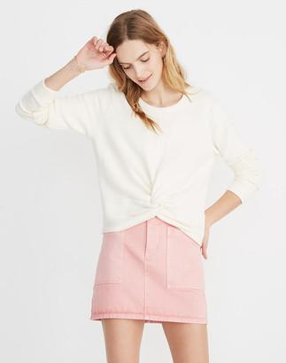 Madewell Twist-Front Sweatshirt