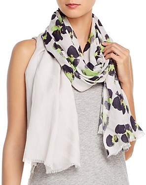 Fraas Painted Leopard Cotton Scarf