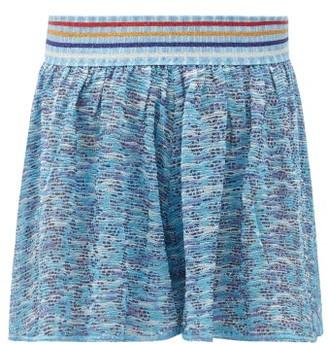Missoni Mare High-rise Striped Lurex-jacquard Shorts - Multi