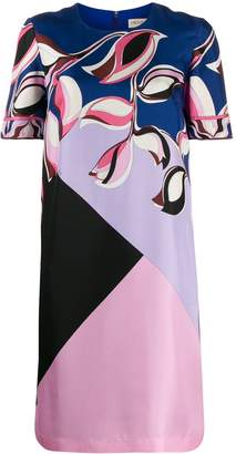 Emilio Pucci printed colour block dress